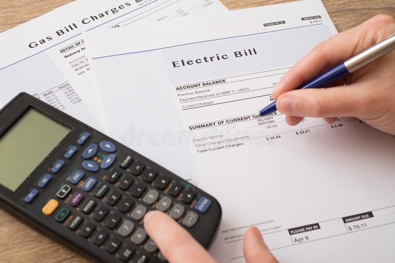 Gas bill charges paper form royalty free stock photography