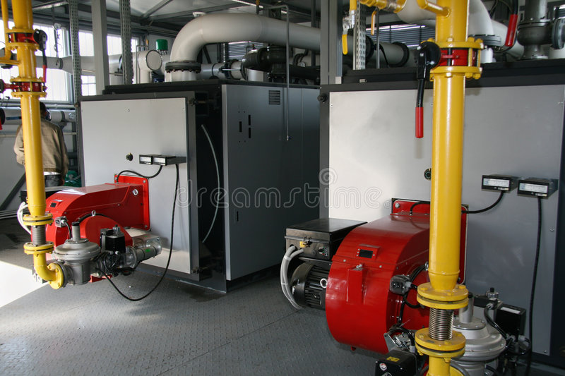 Gas boiler-house royalty free stock image