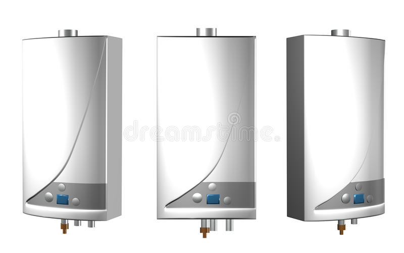 Gas boilers stock illustration
