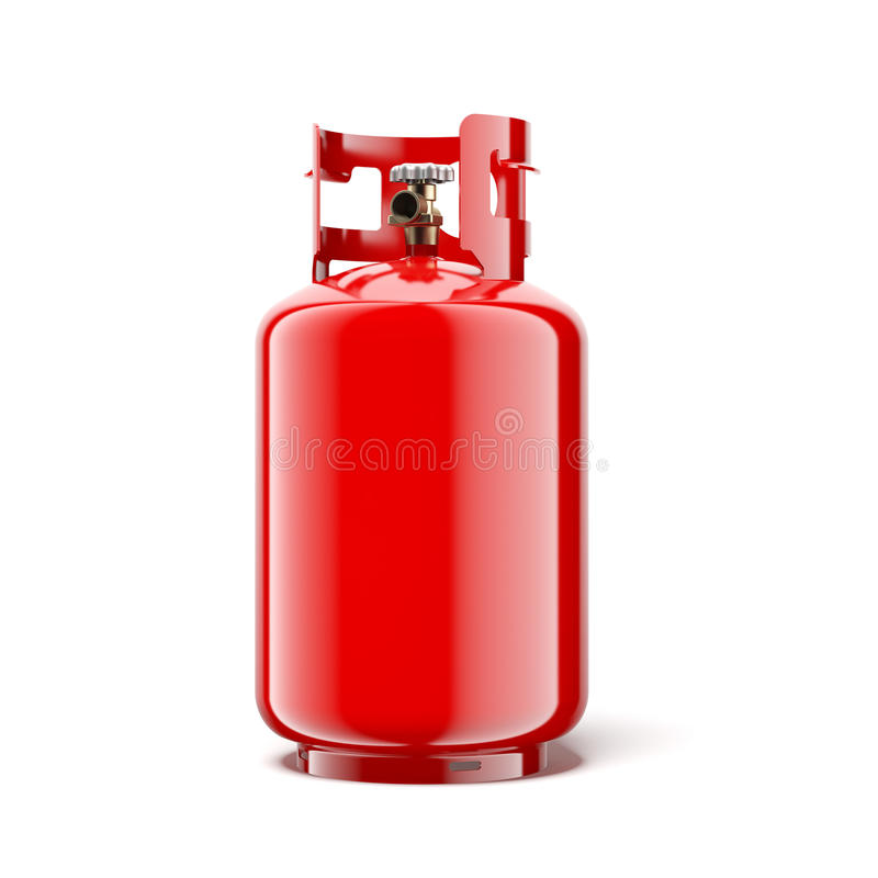 Gas bottle. Isolated on a white background. 3d render royalty free illustration