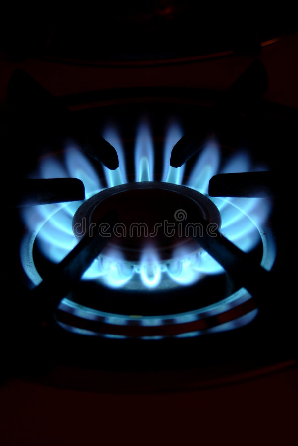 Gas burner stock image