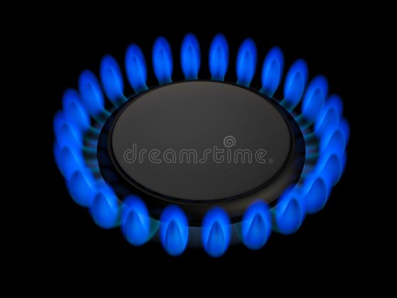 Download Gas burner stock illustration. Image of blaze, fossil - 33608248