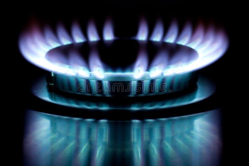 Gas burner flame stock photo