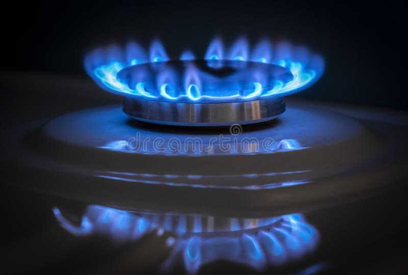 Gas burner stove stock image