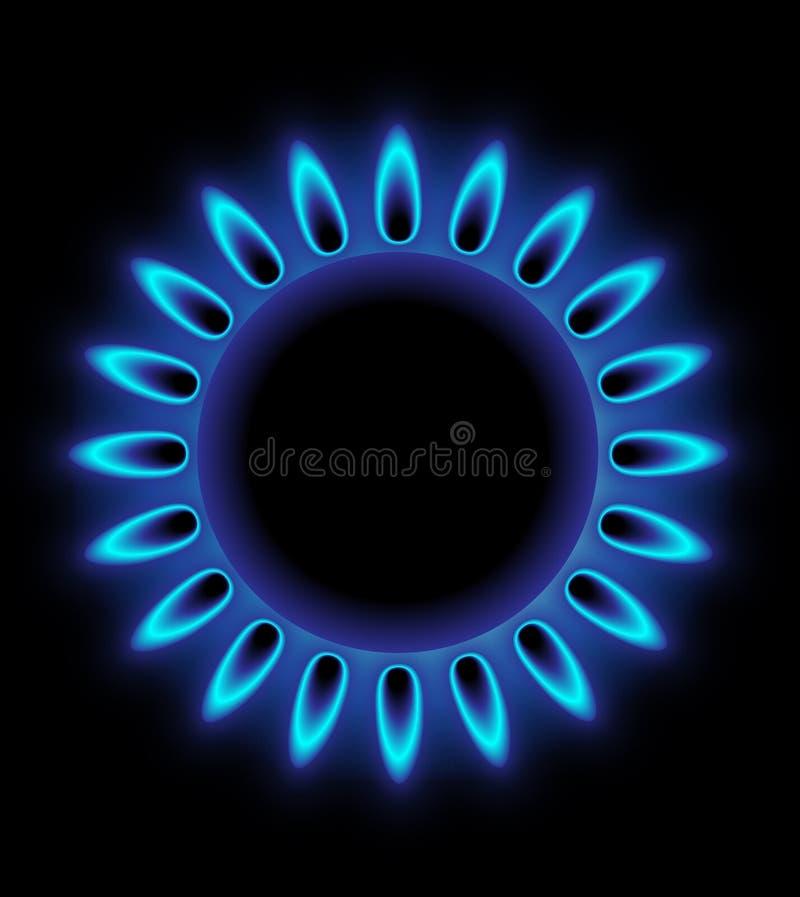 Gas Burning lizenzfreie abbildung