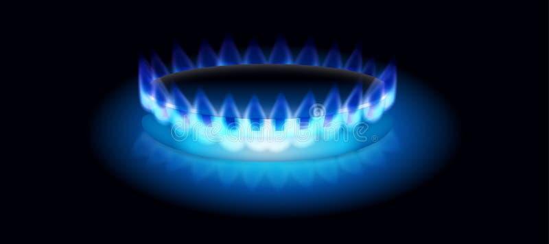 Gas Burning  lizenzfreies stockbild