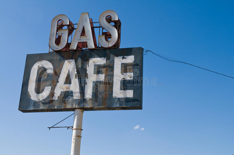 Gas Cafe stock photo