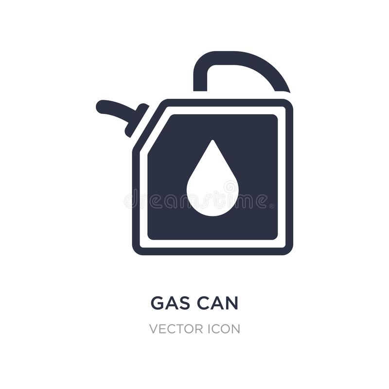gas can icon on white background. Simple element illustration from Transport concept vector illustration