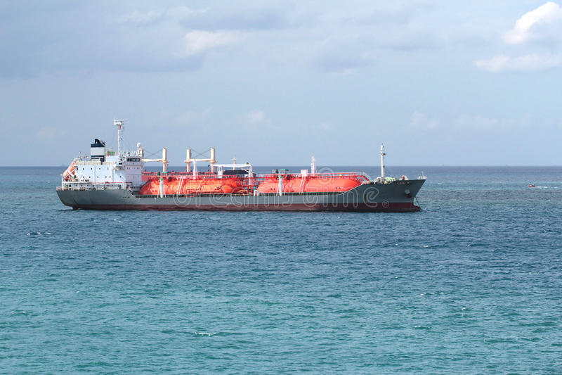 Gas cargo ship stock image