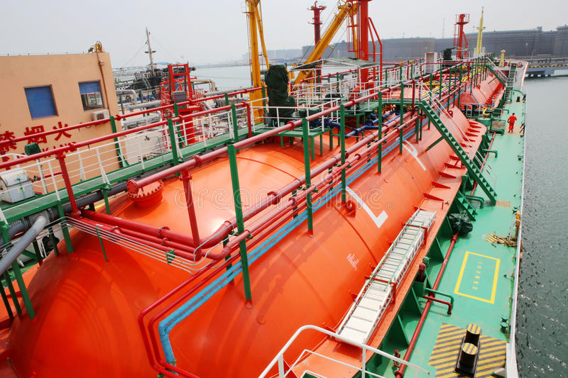 Gas carriers royalty free stock photo