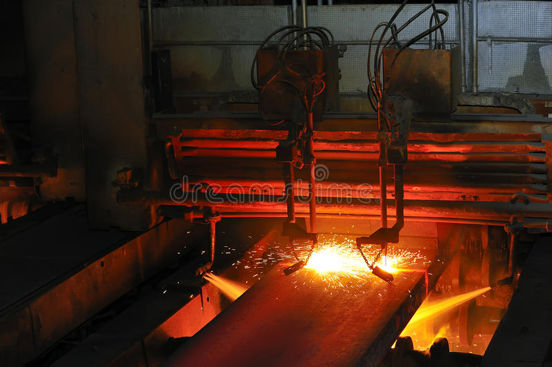 Download Gas Cutting Of The  Hot Metal Stock Image - Image: 19152649