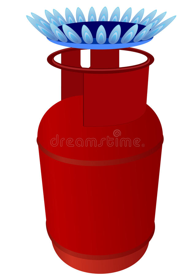 Download Gas cylinder and burner stock vector. Image of abstract - 25525036