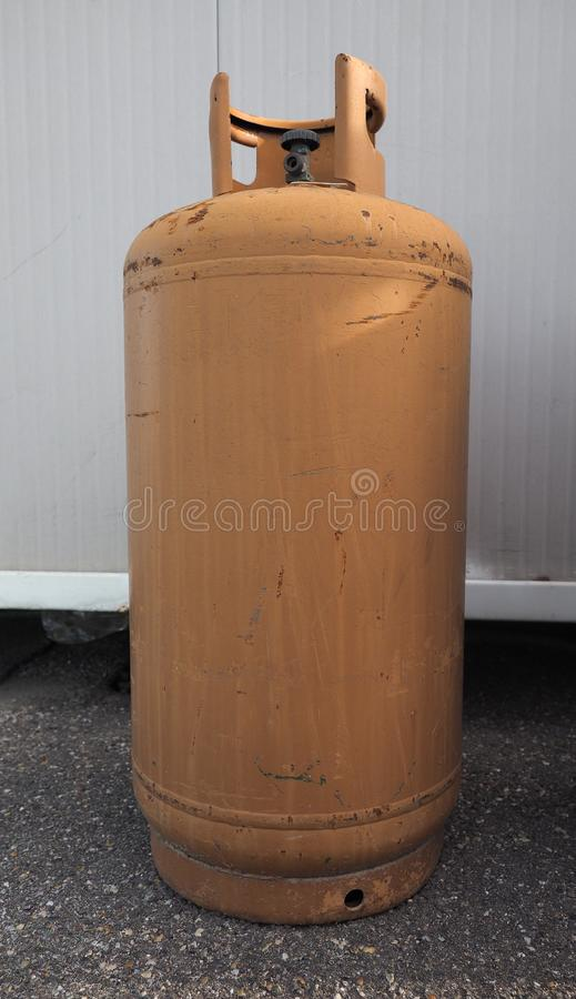 Fuel gas cylinder heating. Gas cylinder tank for residential heating fuel royalty free stock image