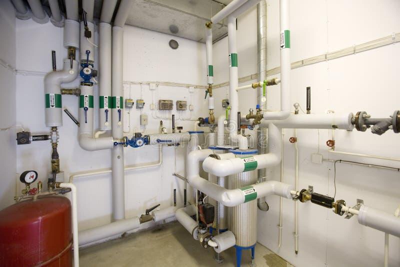 Gas-Dampfkessel stockfoto. Bild von metall, industrie - 13956200
