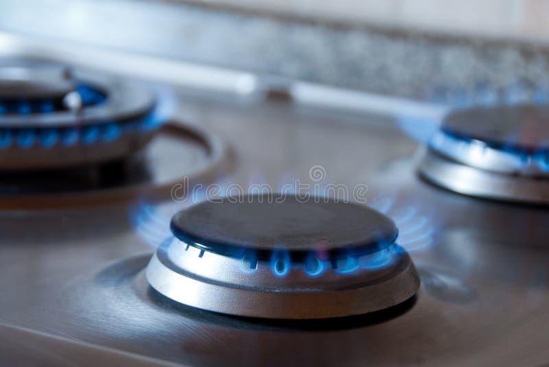 Gas de la estufa fotografía de archivo libre de regalías