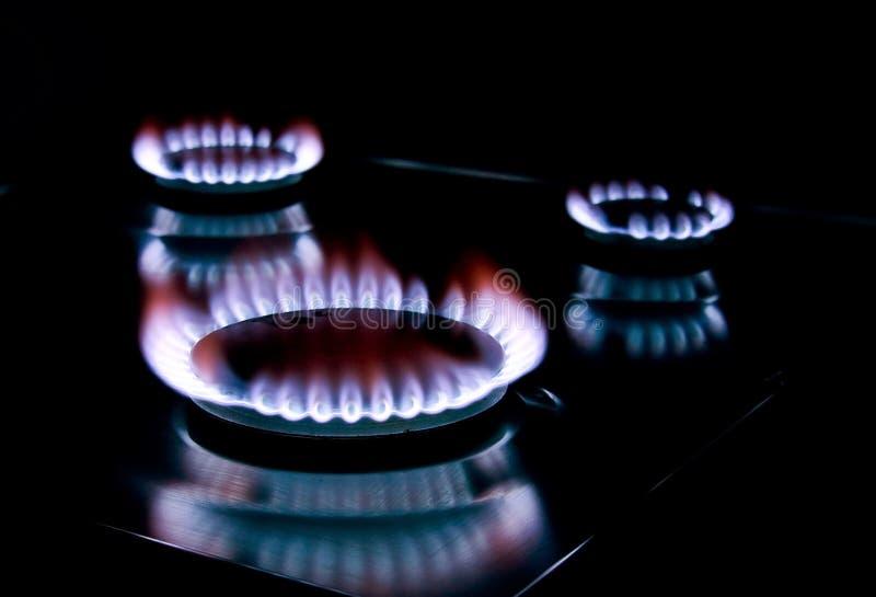 Gas della stufa fotografia stock