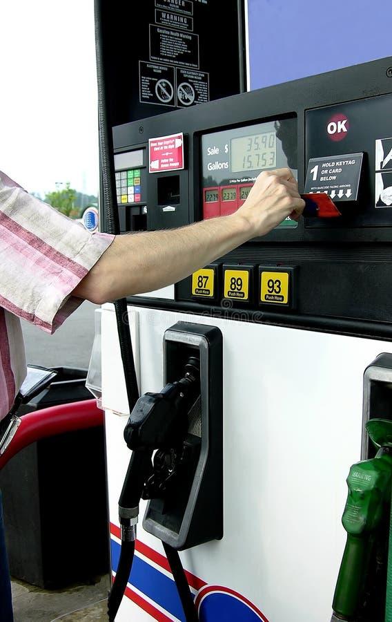 Gas di pompaggio (2) fotografia stock