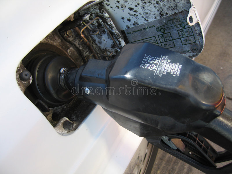 Gas Di Pompaggio Fotografia Stock Libera da Diritti