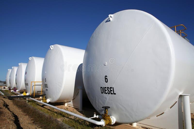 Gas e serbatoi di combustibile diesel fotografia stock