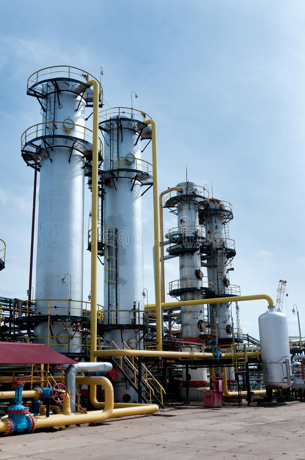 Gas-elaborare fabbrica fotografia stock
