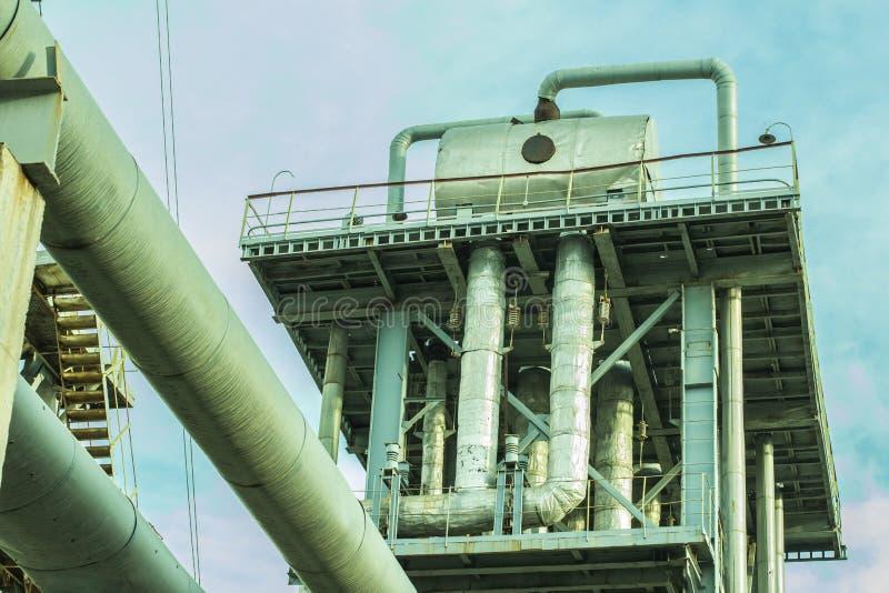 Gas en olie de industrie royalty-vrije stock fotografie