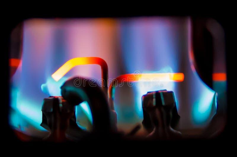 gas för kokkärlutrustningundersökning royaltyfri fotografi