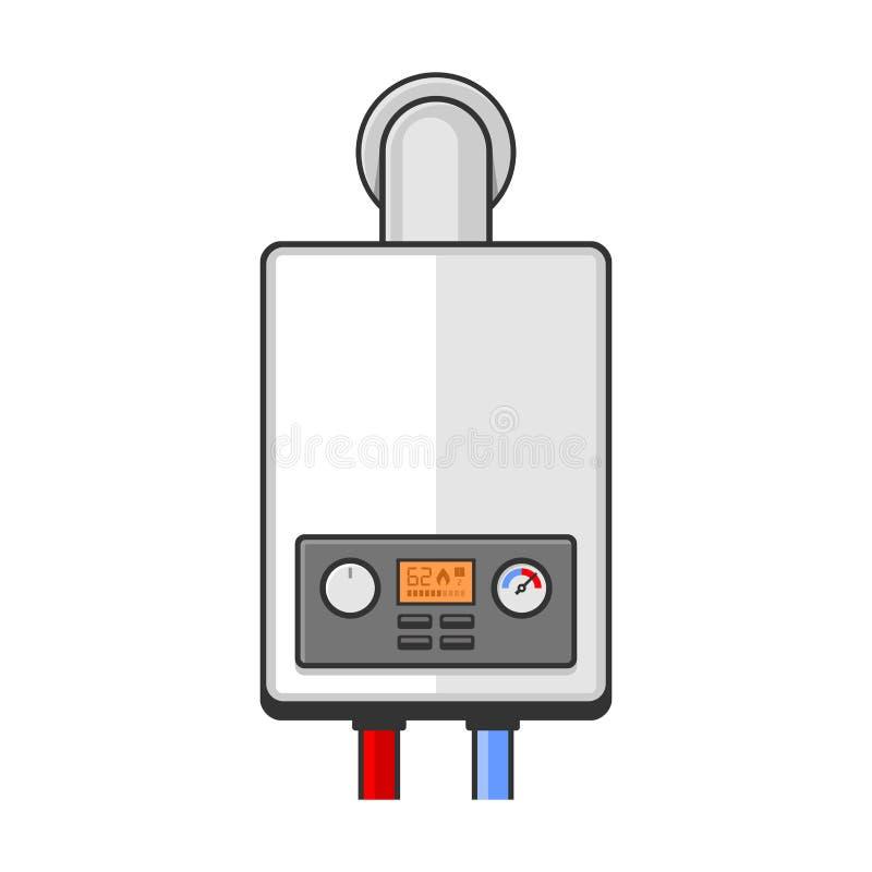 gas för kokkärlutrustningundersökning vektor royaltyfri illustrationer