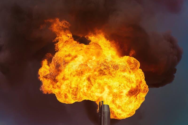 gas facklan arkivbild