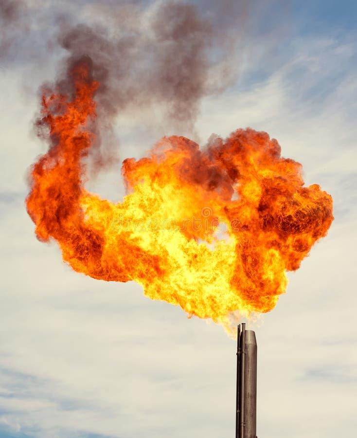 gas facklan arkivbilder