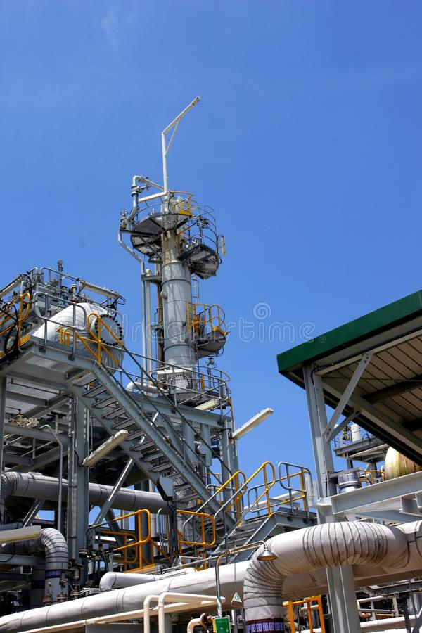 Gas factory royalty free stock image