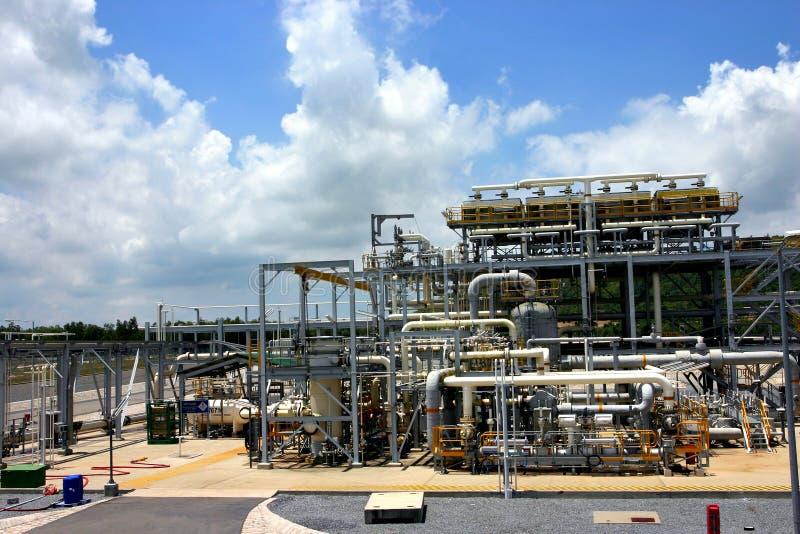 Gas factory royalty free stock photos