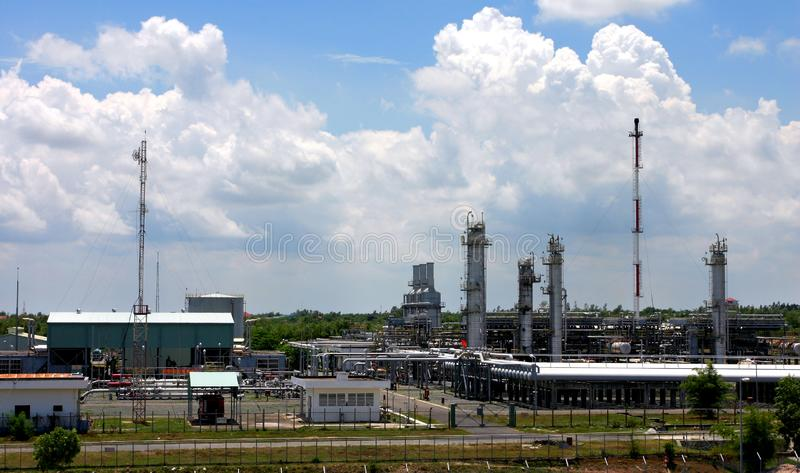 Gas factory stock image