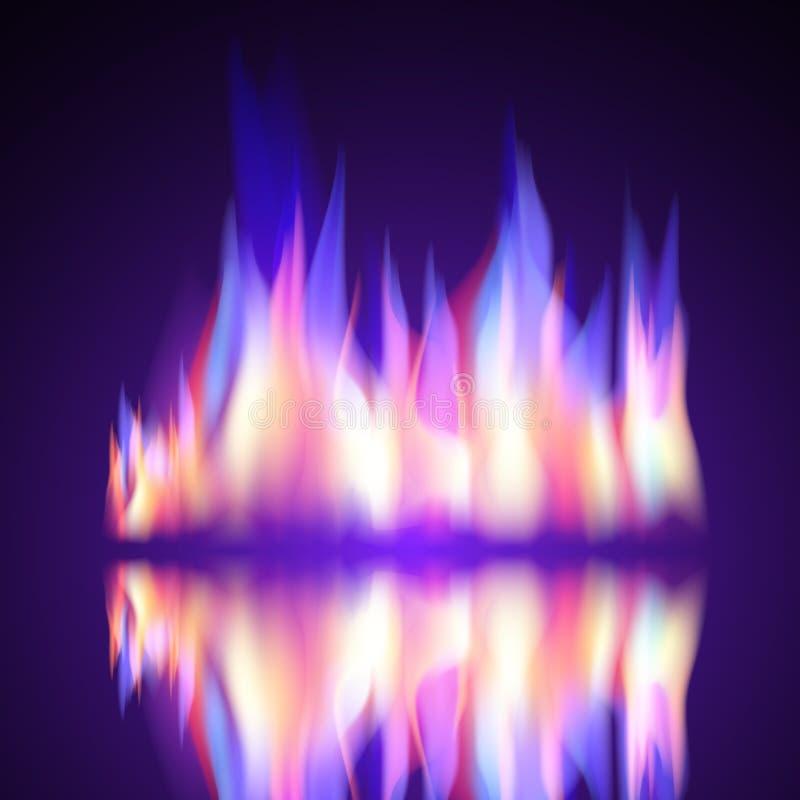 Gas-Feuerflammenbrand-Vektorhintergrund lizenzfreie abbildung