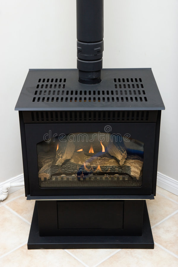 Gas fireplace royalty free stock image