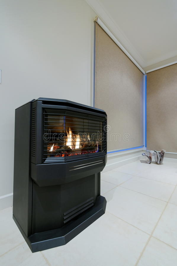 Download Gas fireplace stock image. Image of blind, cosy, residence - 9666529
