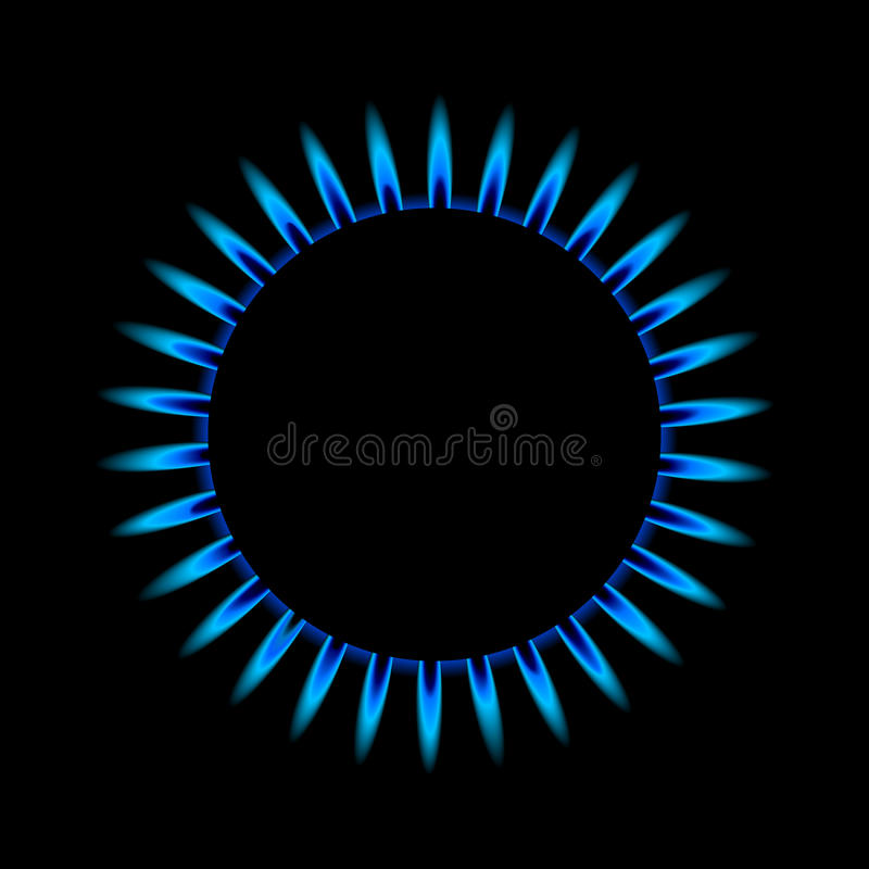 Download Gas flame from above stock vector. Illustration of circular - 24226862