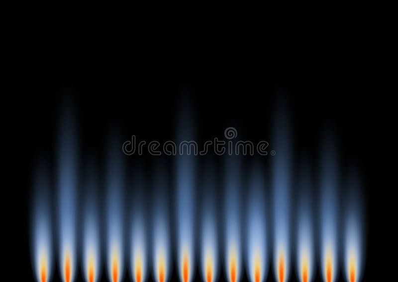 Gas Flames in landscape stock photos