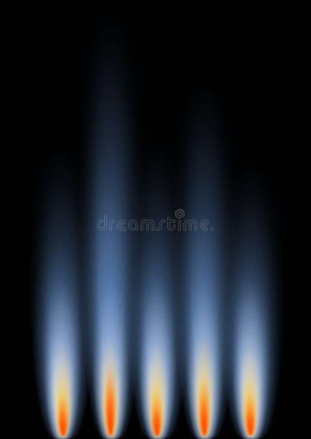 Gas-Flammen vektor abbildung