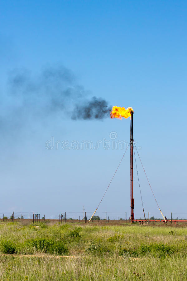 Download Gas flare stock image. Image of power, pollution, burning - 25142311
