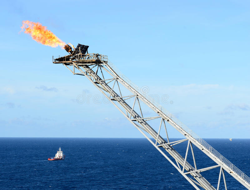 Download The gas flare stock image. Image of ship, ocean, explode - 26499749
