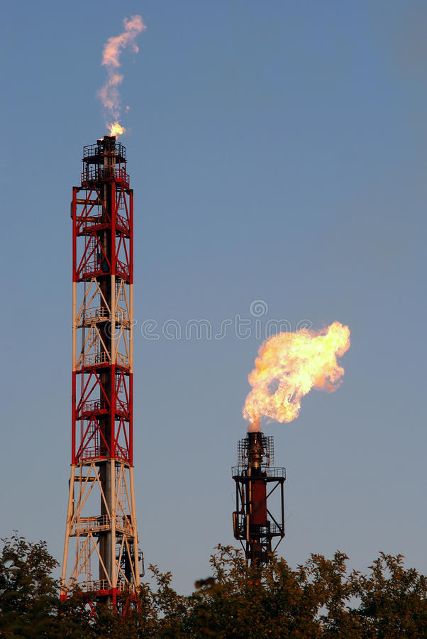 Gas Flares stock photography
