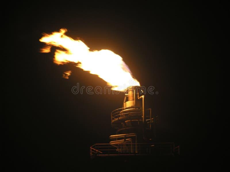 Gas flaring royalty free stock image