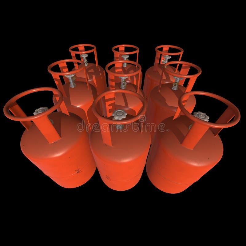 Gas-flaska för behållare för gascylinder LPG royaltyfri illustrationer