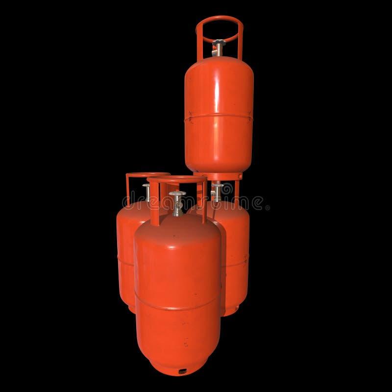 Gas-flaska för behållare för gascylinder LPG vektor illustrationer