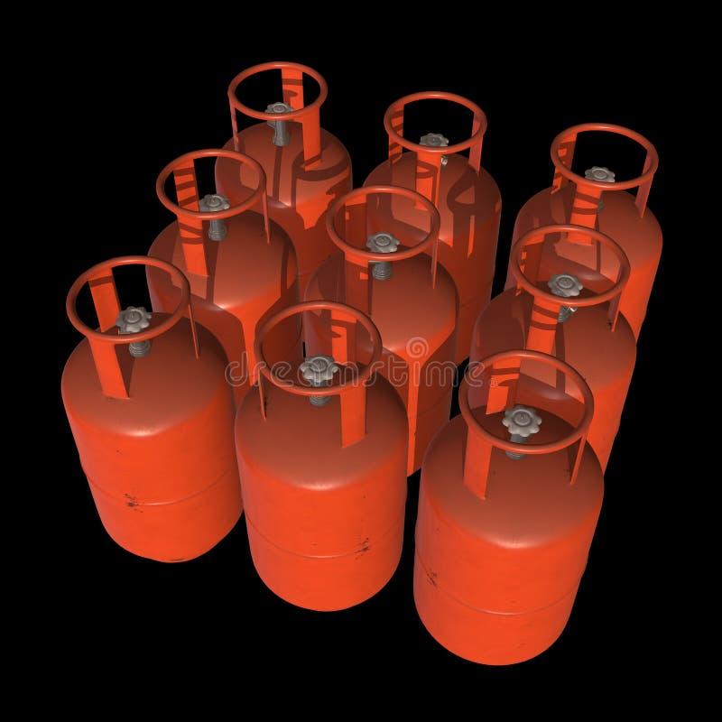 Gas-flaska för behållare för gascylinder LPG stock illustrationer