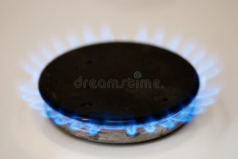 Gas-fornuis brander royalty-vrije stock foto's