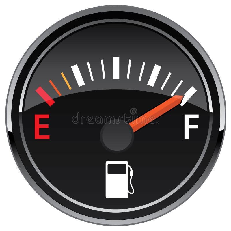 Gas Fuel Automotive Dashboard Gauge Vector Illustration royalty free illustration
