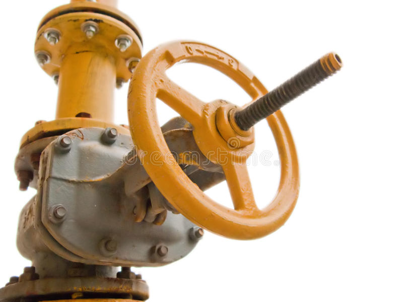 Gas fuel valve stock image