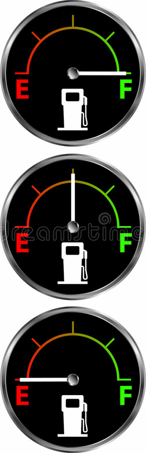 Gas_gauge stock de ilustración