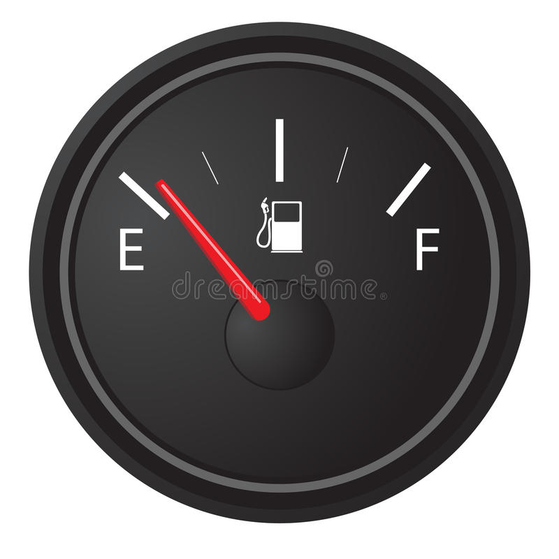 Gas gauge stock illustration